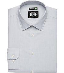 joe joseph abboud gray textured repreve® slim fit dress shirt