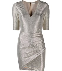 alice+olivia textured metallic dress - gold