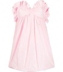 philosophy di lorenzo serafini ruffle-trim babydoll puffball dress -