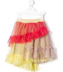 raspberry plum astrid tulle skirt - multi pink
