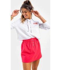 ashlin button mini skirt - red