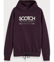 scotch & soda hoodie met logoprint