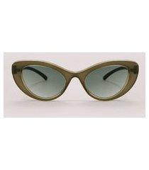 óculos de sol gatinho feminino emi beachwear verde