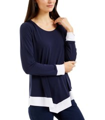 jm collection colorblocked top, created for macy's
