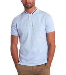 barbour men's galloch tipped baseball-collar polo shirt