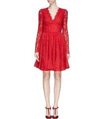 getrimd lace flounce jurk