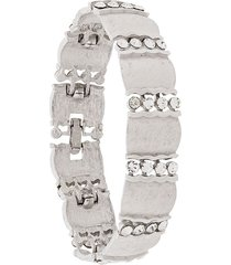 susan caplan vintage 1960s trifari bracelet - silver