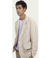 scotch & soda pinstripe linen & ecovero™ blend blazer