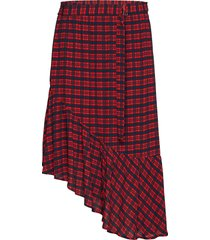 skirt knälång kjol röd marc o'polo