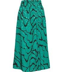aylingz skirt ma19 knälång kjol grön gestuz