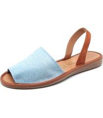 sandalia azul vizzano