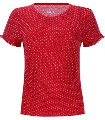 camiseta arandela puntos color rojo, talla 8