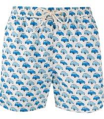 mc2 saint barth vintage car print swim shorts - branco