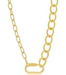 colar diferentes correntes maxi elos folheado a ouro 18k - dourado - feminino - dafiti