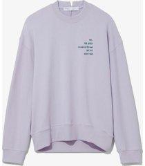proenza schouler white label address logo print sweatshirt lavender small address/purple l