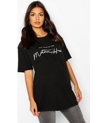 maternity motherhood t-shirt, black