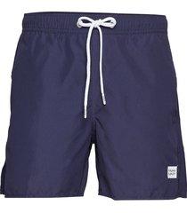 breeze long swim shorts badshorts blå frank dandy