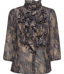lillysz 3,4 shirt blus långärmad svart saint tropez