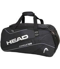 bolso deportivo combat 55 negro plata head