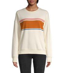 madewell women's parton sweatshirt - crystal - size l
