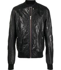 rick owens acid raglan sleeved bomber jacket - black