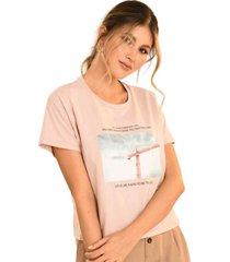 camiseta life rosa ragged pf51120567