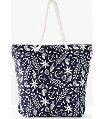 borsa shopper in tessuto (blu) - bpc bonprix collection