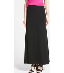 women's ming wang a-line knit maxi skirt, size large - black
