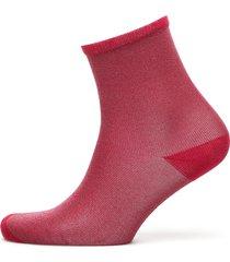 dina solid coll. lingerie socks regular socks röd becksöndergaard