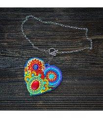 kolekcja frida - naszyjnik kolorowe serce