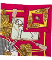 gucci horse print scarf - pink