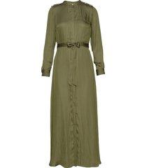 i ls trench maxi dress maxiklänning festklänning grön banana republic