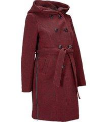 cappotto prémaman in misto lana (rosso) - bpc bonprix collection