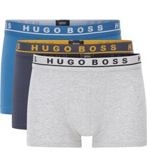 boss three pack multicoloured strech cotton boxers 50325791