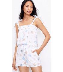 loft petite seashell bow strap pajama cami