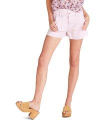 women's veronica beard jaylen high waist pleat front shorts, size 28 - purple