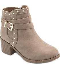 girl's faux suede booties