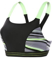 speedo reflect wave crop top zwart