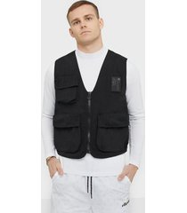 champion reverse weave vest jackor black