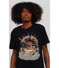camiseta dragon sushi ramen black