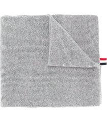 thom browne cachecol de cashmere - cinza