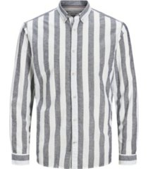 jack & jones men's long sleeve striped woven shirt