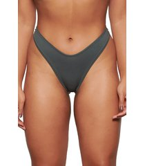 plus size women's skims dipped stretch cotton jersey thong, size 3 x - green