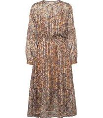 vanja dress knälång klänning brun unmade copenhagen
