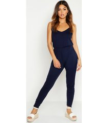 basic cami jumpsuit, navy