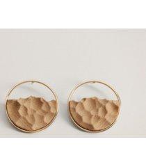 mango women's birch mixed earrings