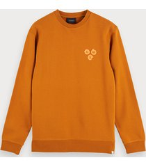 scotch & soda sweater met artworkdetail