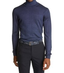 men's boglioli garment dyed wool turtleneck sweater