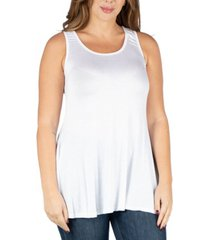 24seven comfort apparel women's plus size sleeveless tunic tank top