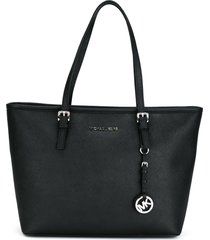 michael michael kors jet set travel tote - black